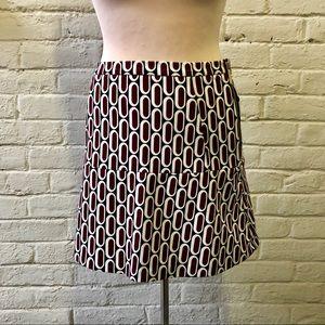 Michael Kors graphic print A-line skirt, size 2